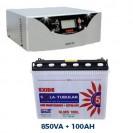 Exide Home Solar Inverter Combo 850VA + 100AH Battery