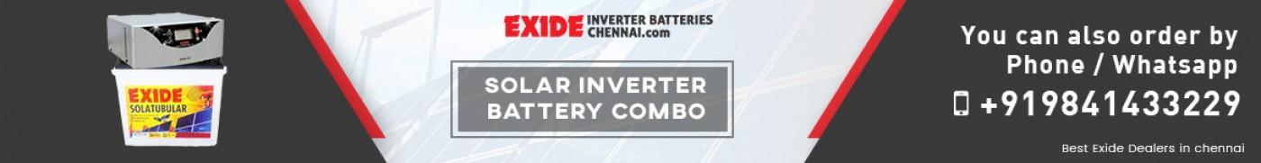 Solar Inverter Battery Combo