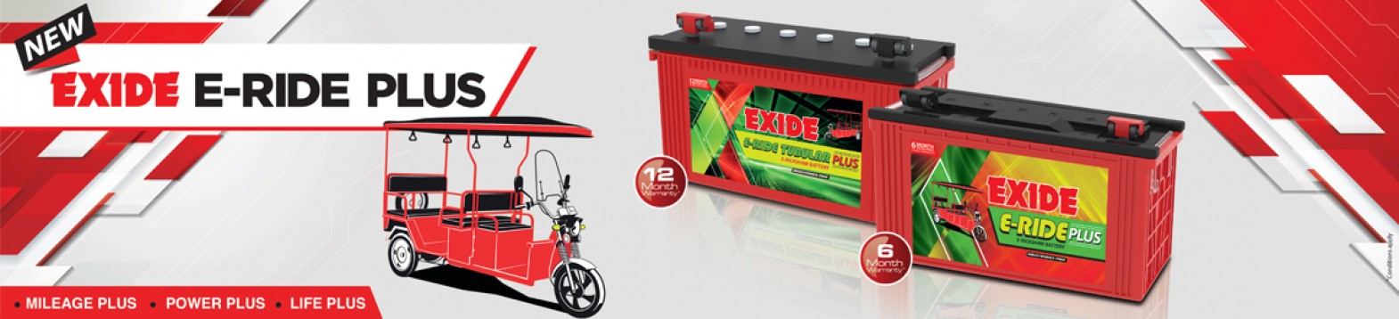 Exide E -Rickshaw Batteries